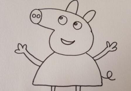 小猪佩奇简笔画_小猪佩奇一家人简笔画_52pk下载站