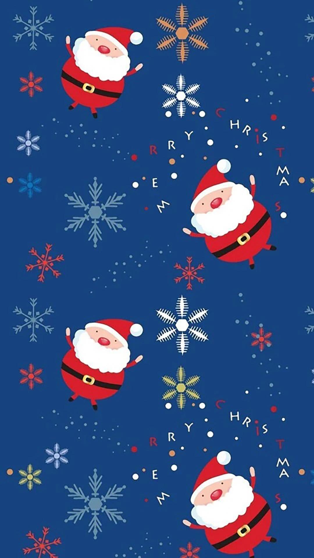 手机墙纸大全_圣诞节手绘手机壁纸图片大全